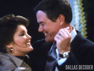 Dallas, Garnet McGee, J.R. Ewing, Kate Mulgrew, Larry Hagman, Triangle