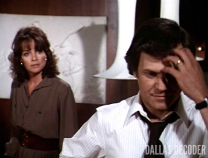 Cliff Barnes, Dallas, For Love or Money, Ken Kercheval, Linda Gray, Sue Ellen Ewing