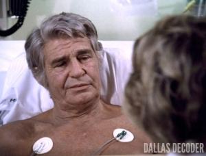 Barbara Bel Geddes, Bypass, Dallas, Jim Davis, Jock Ewing, Miss Ellie Ewing