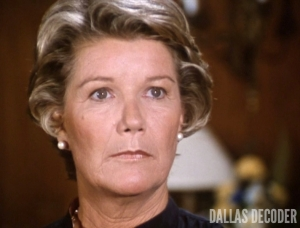 Barbara Bel Geddes, Dallas, Julie's Return, Miss Ellie Ewing
