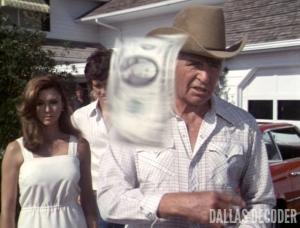 Bobby Ewing, Dallas, Jim Davis, Jock Ewing, Pam Ewing, Patrick Duffy, Reunion Part 2, Victoria Principal