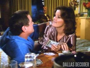 Dallas, Garnet McGee, J.R. Ewing, Kate Mulgrew, Larry Hagman, Triangle