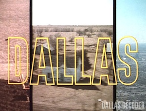 Dallas, opening credits, three-way split, title