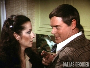 Call Girl, Dallas, J.R. Ewing, Larry Hagman, Leanne Rees