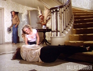 Charlene Tilton, Dallas, John Ewing III Part 1, Linda Gray, Lucy Ewing, Ray Krebbs, Steve Kanaly, Sue Ellen Ewing