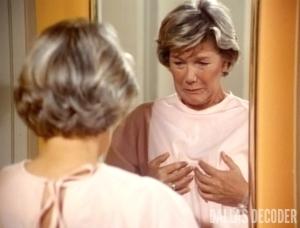 Barbara Bel Geddes, Dallas, Mastectomy Part 1, Miss Ellie Ewing