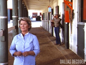 Barbara Bel Geddes, Dallas, Ellie Saves the Day, Miss Ellie Ewing, Ray Krebbs, Steve Kanaly