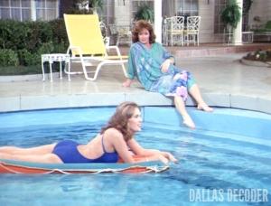 Colleen Camp, Dallas, Kristin Shepard, Linda Gray, Sue Ellen Ewing, Sue Ellen's Sister