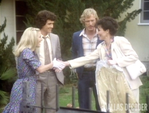 Bobby Ewing, Dallas, Gary Ewing, Joan Van Ark, Karen Fairgate, Knots Landing, Michele Lee, Pilot, Ted Shackelford, Joan Van Ark