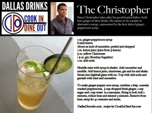 Dallas Drinks - The Christopher
