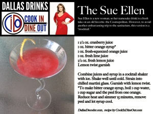 Dallas Drinks - The Sue Ellen