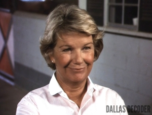 Barbara Bel Geddes, Dallas, Miss Ellie Ewing, Trouble at Ewing 23
