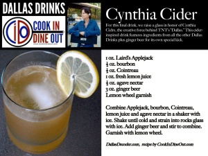 Dallas Drinks - Cynthia Cider