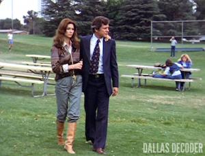 Cliff Barnes, Dallas, Ken Kercheval, Pam Ewing, Victoria Principal
