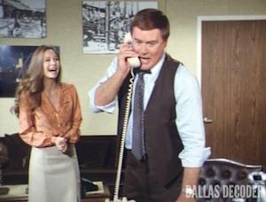 Dallas, J.R. Ewing, Kristin Shepard, Larry Hagman, Mary Crosby