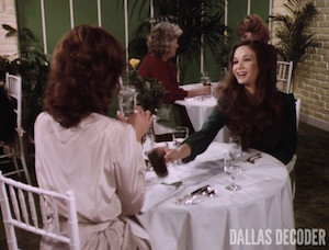 Dallas, Divorce Ewing Style, Kristin Shepard, Linda Gray, Mary Crosby, Sue Ellen Ewing