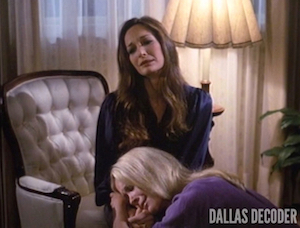 Dallas, Knots Landing, Krisitn Shepard, Joan Van Ark, Mary Crosby, Valene Ewing