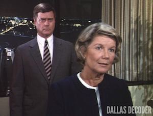 Barbara Bel Geddes, Dallas, J.R. Ewing, Larry Hagman, Miss Ellie Ewing