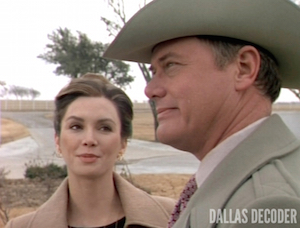 Dallas, Digger's Daughter, J.R. Ewing, Larry Hagman, Pam Ewing, Victoria Principal