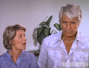 Barbara Bel Geddes, Dallas, Jim Davis, Jock Ewing, Miss Ellie Ewing, No More Mr. Nice Guy Part 1