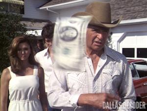 Bobby Ewing, Dallas, Jim Davis, Jock Ewing, Pam Ewing, Patrick Duffy, Victoria Principal, Reunion Part 2