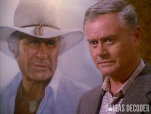 Daddy Dearest, Dallas, Jim Davis, Jock Ewing, J.R. Ewing, Larry Hagman