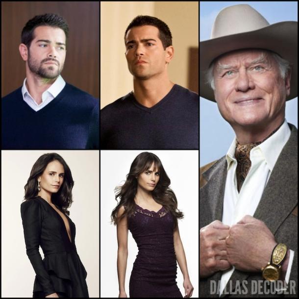 Christopher Ewing, Dallas, Elena Ramos, Jesse Metcalfe, Jordana Brewster, J.R. Ewing, Larry Hagman, TNT