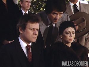 Bobby Ewing, Cliff Barnes, Dallas, Jock's Trial Part 2, Ken Kercheval, Pam Ewing, Patrick Duffy, Victoria Principal