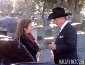 Chris Weatherhead, Dallas, Fathers and Sons and Fathers and Son, J.R. Ewing, Larry Hagman, Meg Callahan