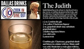 Dallas Drinks - The Judith featured image