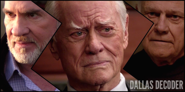 Cliff Barnes, Dallas, Harris Ryland, J.R. Ewing, Ken Kercheval, Larry Hagman, Mitch Pileggi, TNT, Who Killed J.R.?