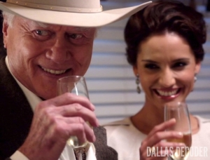 Changing of the Guard, Dallas, J.R. Ewing, Larry Hagman, Leonor Varela, Marta del Sol, TNT, Veronica Martinez