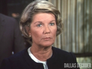 Barbara Bel Geddes, Dallas, Miss Ellie Ewing, Waterloo at Southfork