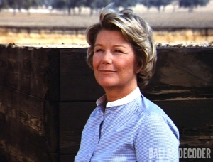 Barbara Bel Geddes, Dallas, Ellie Saves the Day, Miss Ellie Ewing