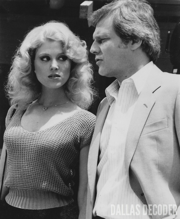 Afton Cooper, Audrey Landers, Billion Dollar Question, Cliff Barnes, Dallas, Ken Kercheval