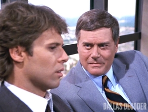 Dallas, John Baxter, J.R. Ewing, Larry Hagman, Robin Strand, Where There's a Will