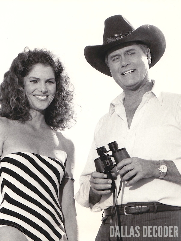 Aftermath, Dallas, Holly Harwood, J.R. Ewing, Larry Hagman, Lois Chiles