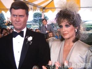 Dallas, Cliff Barnes, J.R. Ewing, Ken Kercheval, Larry Hagman, Linda Gray, Sue Ellen Ewing, Wedding
