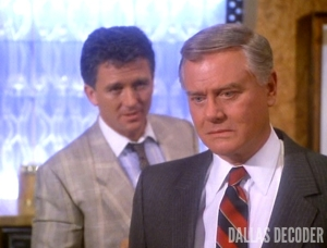 "Bobby and J.R. in ""Cry Me a River of Oil,"" Seidman's first ""Dallas"" episode"