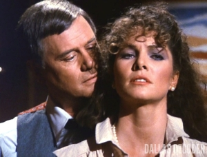 A Ewing is a Ewing, Dallas, Holly Harwood, J.R. Ewing, Larry Hagman, Lois Chiles