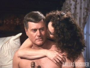 Dallas, Holly Harwood, J.R. Ewing, Larry Hagman, Lois Chiles, Tangled Web
