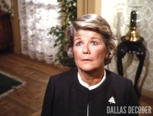 Barbara Bel Geddes, Dallas, Miss Ellie Ewing, Things Ain't Goin' Too Good at Southfork