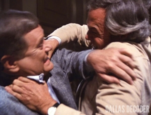 Dallas, Ewing Inferno, J.R. Ewing, Larry Hagman, Ray Krebbs, Steve Kanaly