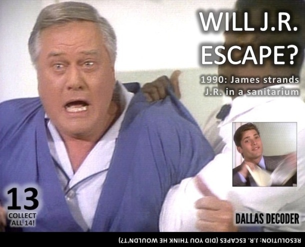 Dallas, James Beaumont, J.R. Ewing, Larry Hagman, Sasha Mitchell
