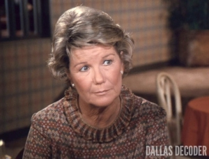 Barbara Bel Geddes, Dallas, Miss Ellie Ewing, Tangled Web