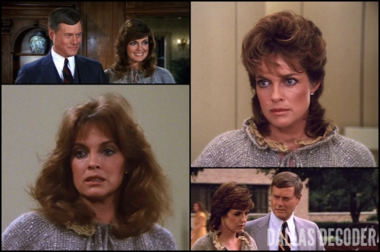 Changing of the Guard, Dallas, Goodbye Cliff Barnes, J.R. Ewing, Larry Hagman, Linda Gray, Sue Ellen Ewing