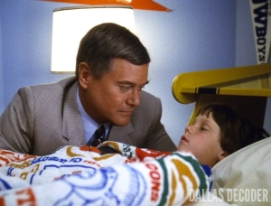 Dallas, John Ross Ewing, J.R. Ewing, Larry Hagman, Omri Katz, Quality of Mercy