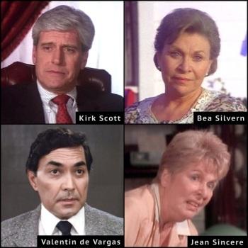 Bea Silvern, Dallas, Jane Sincere, Kirk Scott, Valentin de Varas