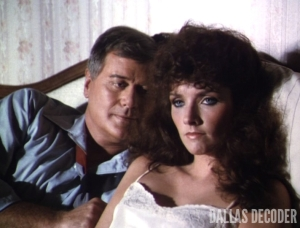 Dallas, J.R. Ewing, Katherine Wentworth, Larry Hagman, Morgan Brittany, Where is Poppa?