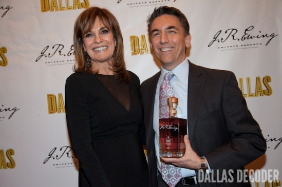 Linda Gray and Andy
